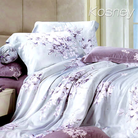 《KOSNEY  愛如潮水》特大100%天絲TENCEL六件式床罩組
