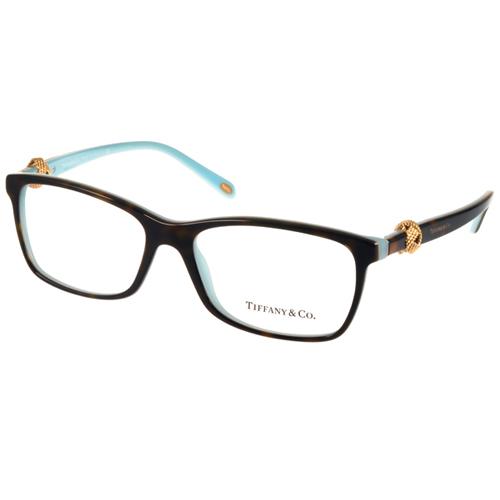 Tiffany CO.光學眼鏡 珠寶簡約鑽飾款^(琥珀~蒂芬妮綠金^) ^#TF2104