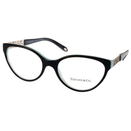 Tiffany&CO. 光學眼鏡 珠寶魅力雕刻款(黑-蒂芬妮綠) #TF2129 8055