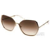 Chloe 太陽眼鏡 典雅金屬造型款(棕-金)  #CL115S 748