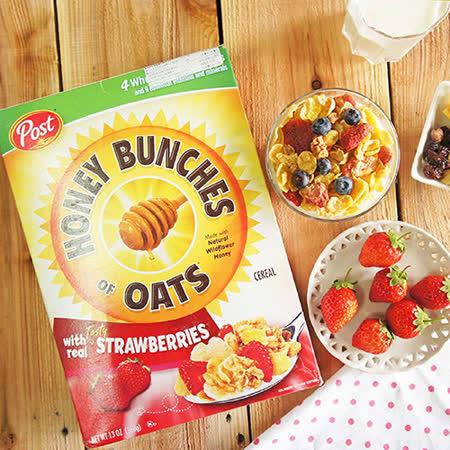 【美國Post】蜂蜜草莓燕麥穀物早餐麥片