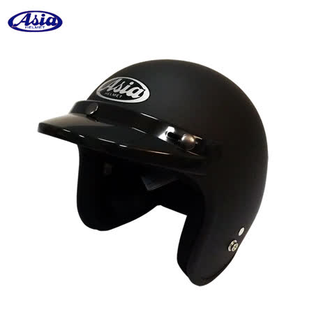 ASIA A706 精裝素色細條安全帽 平黑