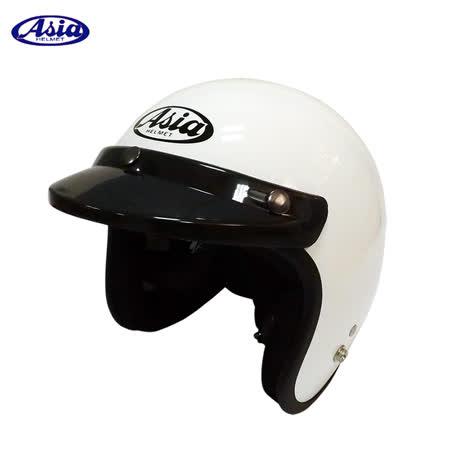 ASIA A706 精裝素色細條安全帽 白