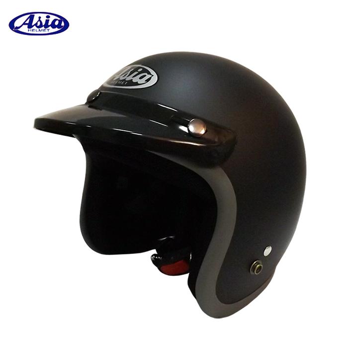 ASIA A706 精裝素色寬條安全帽 平黑灰