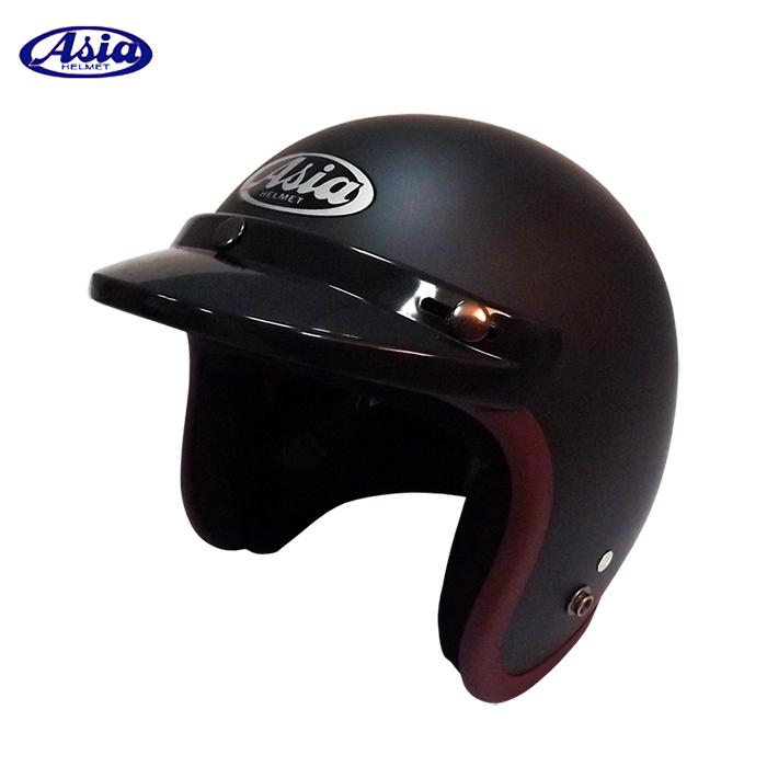 ASIA A706 精裝素色寬條安全帽 平黑紫