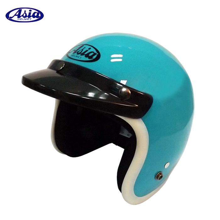 ASIA A706 精裝素色寬條安全帽 湖水綠白