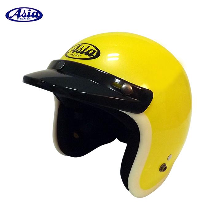 ASIA A706 精裝素色寬條安全帽 珍珠黃白