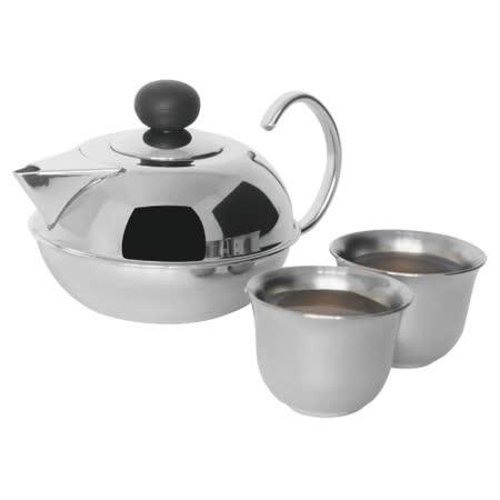 【歐喜廚】OSICHEF 小倆口不鏽鋼小茶壺杯組