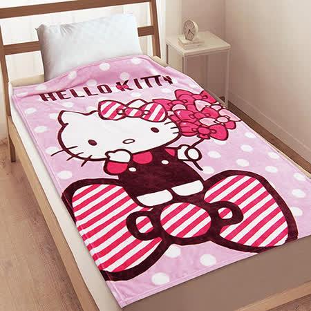 【享夢城堡】HELLO KITTY 幸福滿滿 法蘭絨毯