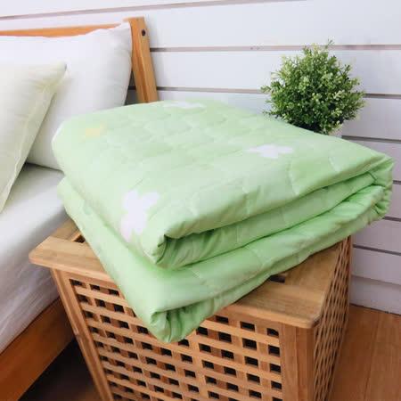 生活提案-精梳純棉 四季涼被單件-花語綠
