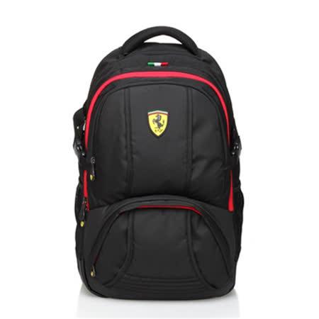 【Ferrari】法拉利時尚耐用多功能後背包TF014B-B(黑色)