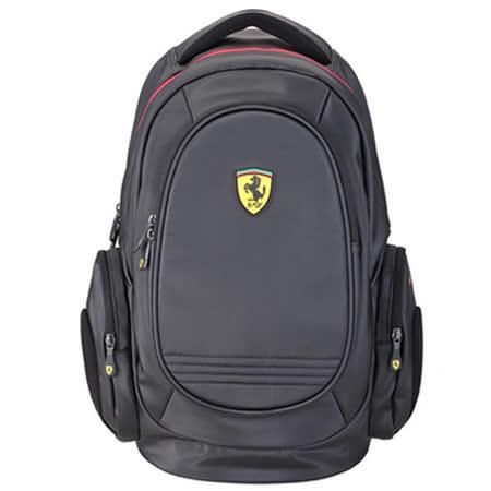 【Ferrari】法拉利時尚防水後背包TF015A-B(黑色)
