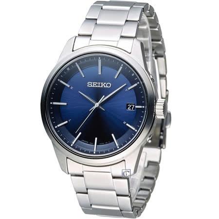 SEIKO Spirit 簡約時尚萬年曆太陽能電波腕錶 7B24-0BJ0B SBTM231J