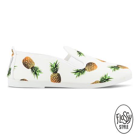 Flossy-(女款)FRASSY西班牙方便鞋-鳳梨/白