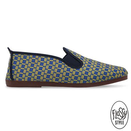 Flossy-(女款)AGUIMES西班牙方便鞋-藍格印花