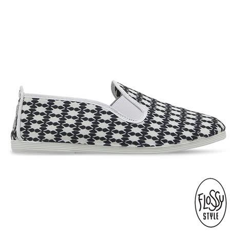 Flossy-(女款)ARTENARA西班牙方便鞋-黑格印花