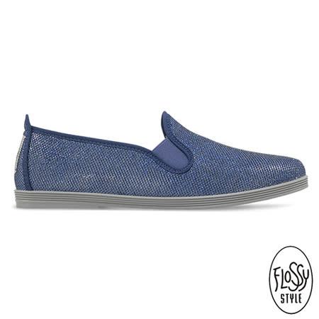 Flossy-(女款)OLIVIA西班牙方便鞋-閃耀藍