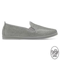 Flossy-(女款)OLIVIA西班牙方便鞋-閃耀銀