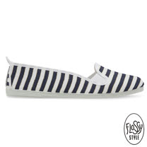 Flossy-(女款)SANTONA西班牙方便鞋-條紋海軍藍