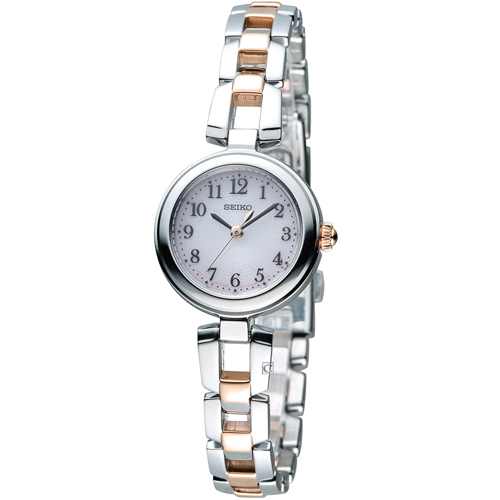 SEIKO vivace 甜美時光 太陽能 腕錶 V117~0CT0K SWFA165J