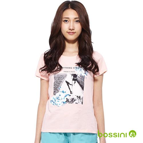 bossini女裝-印花短袖T恤62桃