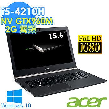 【超值福利品】Acer VN7 15.6吋 i5-4210H GTX960獨顯 FHD 1TB Win10效能筆電(VN7-591G-5925)