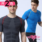 【天使霓裳】壓力衣 變身型男 塑身平腹壓力衣(共2色M~XL)