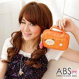 【ABS貝斯貓】波蘿貓咪 旅行化妝包 收納包(橘色88-008)
