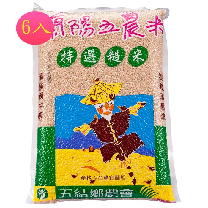 【蘭陽五農】糙米2kg-6入