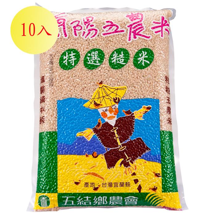 【蘭陽五農】糙米2kg-10入