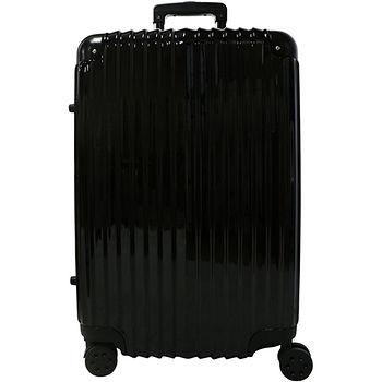 雷諾瓦二代拉鍊行李箱-黑色(20吋)