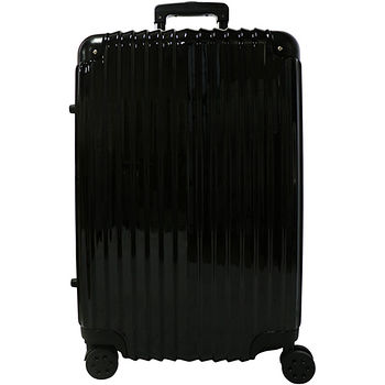 雷諾瓦二代拉鍊行李箱-黑色(24吋)