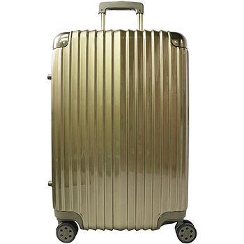 雷諾瓦二代拉鍊行李箱-古銅色(24吋)