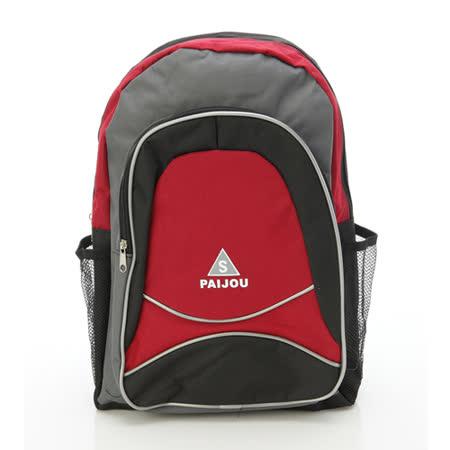 【AOKANA奧卡納】超輕量簡約後背包 書包(紅色1979)【威奇包仔通】