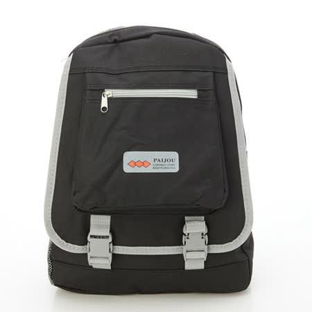 【AOKANA奧卡納】超輕量簡約後背包 書包(黑色1976)【威奇包仔通】