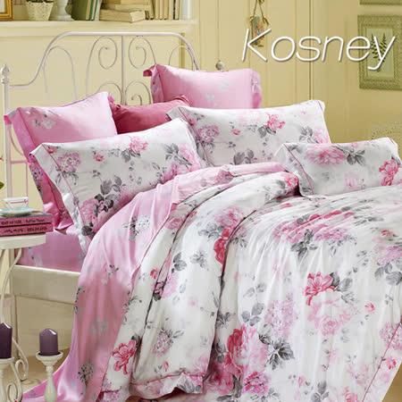《KOSNEY  伊莉莎白》雙人100%天絲TENCEL六件式床罩組