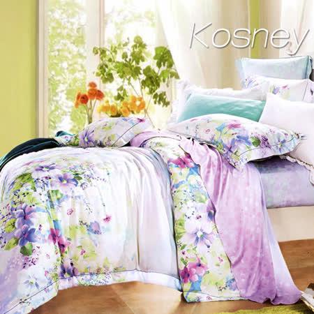 《KOSNEY  意韻幽香》雙人100%天絲TENCEL六件式床罩組