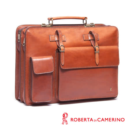 Roberta di Camerino 原皮雙層公事包