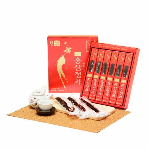 金蔘-6年根高麗紅蔘正果(300g/盒,共1盒)加贈蔘芝王6瓶