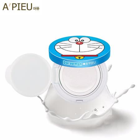 韓國 Apieu 哆啦A夢妝前提亮完美氣墊粉餅(限量聯名款) 14g