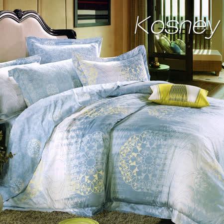 《KOSNEY  瑞麗佳人》雙人100%天絲TENCEL六件式床罩組