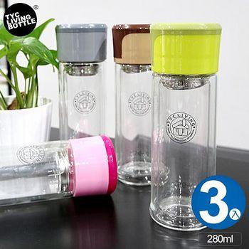 E&J 丹尼爾隔熱雙層玻璃瓶280ml 3入
