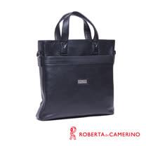 Roberta di Camerino 全皮手提/側背兩用公事包 - 黑色