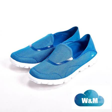 【W&M】MODARE 超彈力條紋舒適瑜珈鞋墊女鞋-藍(另有黑/粉)