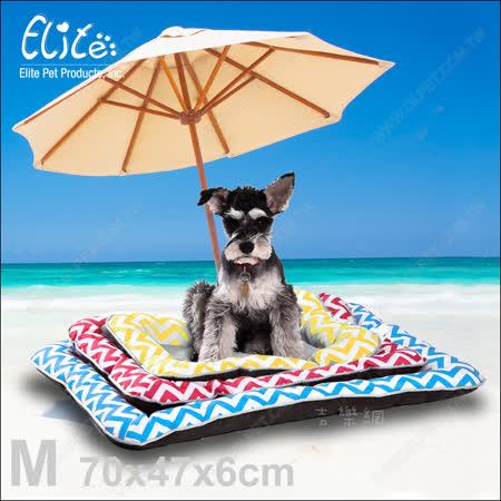 新一代!美國Elite《波浪冰絲寵物涼墊M》柔軟舒適又散熱