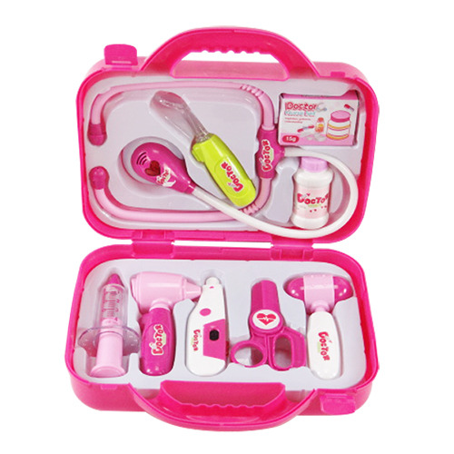 手提盒裝9件式醫生組^(聽筒有聲光音效^)^(CE^)