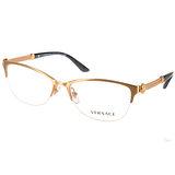 VERSACE光學眼鏡 華麗經典半框款(金) #VE1228 1352