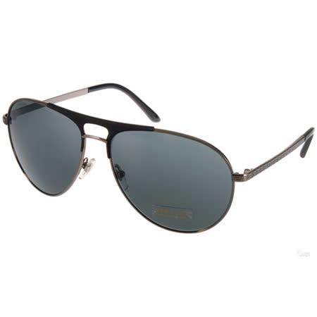 VERSACE太陽眼鏡 時尚復古飛行款(槍銀-藍) #VE2164 100187