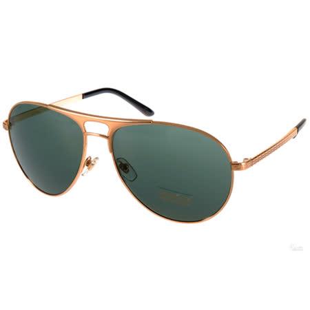 VERSACE太陽眼鏡 時尚復古飛行款(金-綠) #VE2164 100271