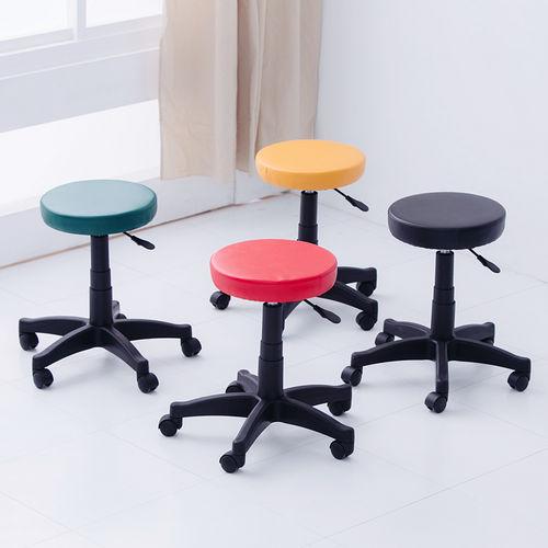 ~Color Play~馬卡龍皮面圓型旋轉椅美容椅工作椅^(4色^)